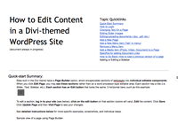 mini view of Divi document
